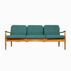 Danish Teak 3-Seater Model 118 Sofa by Grete Jalk for France & Søn / France & Daverkosen, 1960s