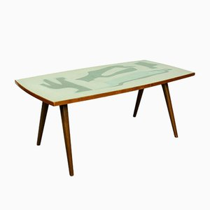 Mid-Century Birch Coffee Table with Formica Top, 1950s