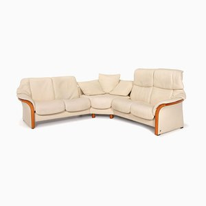 Cream Leather Corner Sofa from Stressless