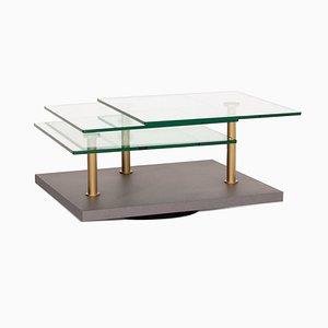 Table Basse Modèle K505 en Verre Gris de Ronald Schmitt