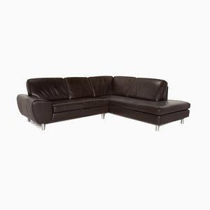 Dark Brown Leather Corner Sofa from Willi Schillig