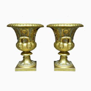 Medici Porcelain Vases, Set of 2