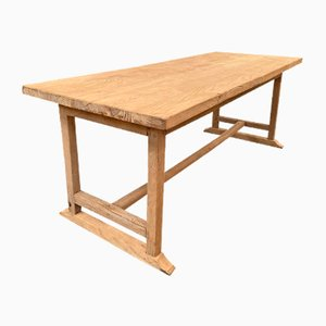 Bauerntisch aus Eichenholz, 1950er