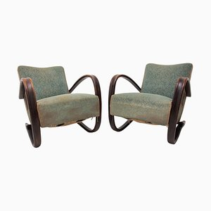 Czechoslovakian Bentwood Model H-269 Armchairs by Jindrich Halabala for UP Závody, 1940s, Set of 2