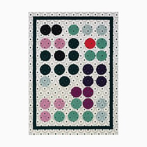 Abstract Dadaist Rug Contemporary Inspired by Sophie Taeuber Arp