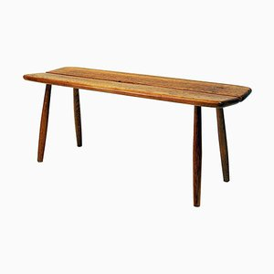 Vintage Swedish Oak Bench by Carl Gustaf Boulogner, 1950s
