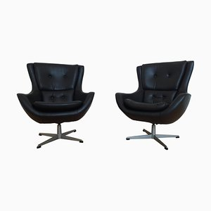 Egg Swivel Lounge Chairs, Denmark, 1970s, Set of 2