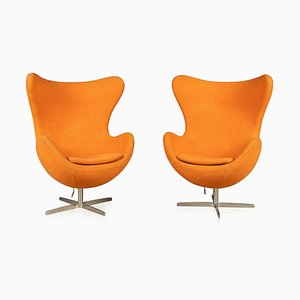 Egg Chairs in the Style of Arne Jacobsen, 1970s, Set of 2