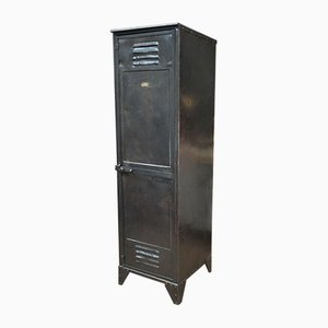 Industrial French Metal Wardrobe from J. Gantois, 1950s