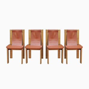 Leather Dining Chairs from Roche Bobois, 1980s, Set of 4