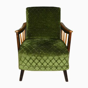 Art Deco Style Green Lounge Chair, 1960s