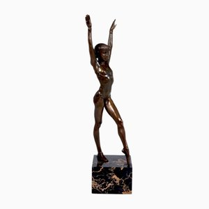 Bronze Gymnast Sculpture, 1970s