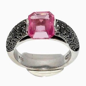 Pinker Saphirglas Ring, 1990er