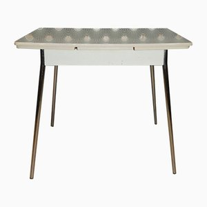 Mid-Century Formica and Chrome Extendable Dining Table with Drawer, 1950s