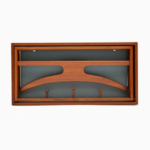 Danish Teak Wall Mounted Valet by Adam Hoff & Paul Ostergraad, 1960s