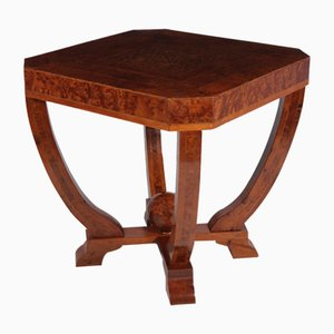 Art Deco Burl Yew Coffee Table, 1930s