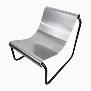 Stainless Steel Lounge Chair by Gingembre Patrick, 1970s
