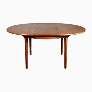 Mid-Century Extendable Round Teak Dining Table from Nathan, 1960s