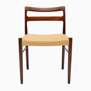 Danish Rosewood and leather Dining Chairs by Soren Willasden, 1960s, Set of 6