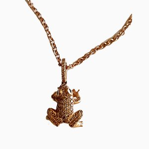 Les diamants Pave collier pendentif avec chaîne
