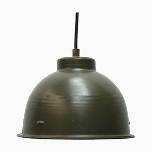 Lampe à Suspension Vintage Industrielle en Métal Vert