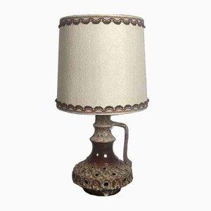 Vintage Openwork Stoneware Table Lamp, 1970s
