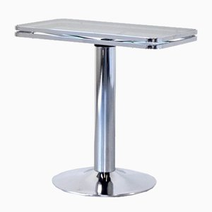 Mid-Century Italian Chrome and Tinted GLass Console Table from Allegri, 1970s