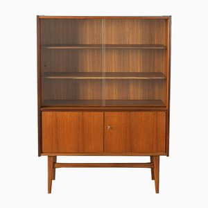 Teak Veneer Display Cabinet from WK Möbel, 1950s