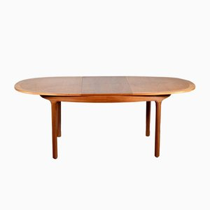 Mid-Century Oblong Teak Extendable Dining Table from Nathan, 1960s