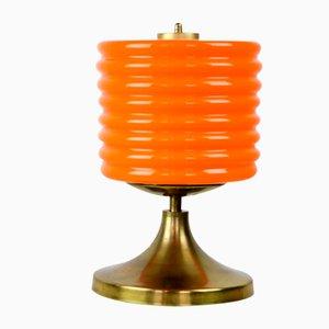 Mid-Century Orange Glass Table Lamp, 1960s