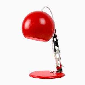 Lámpara de mesa Mid-Century en rojo, años 70