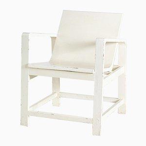 Bauhaus White Armchair, 1950s