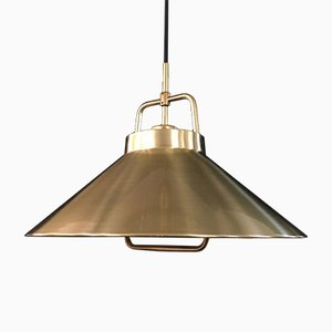 Vintage Brass Model P-295 Pendant Lamp by Fritz Schlegel for Lyfa, 1960s