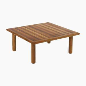 Vintage Italian Wooden Coffee Table by Tobia & Afra Scarpa for Cassina, 1970s