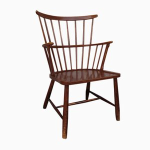 Mid-Century Scandinavian Windsor Chair by Ove Boldt for Fritz Hansen, 1960s