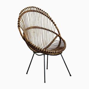 Italian Bamboo Lounge Chairs, 1960s, Set of 2