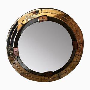 Italienischer Runder Vintage Spiegel