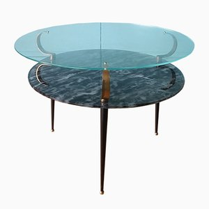 Mid-Century Italian Glass Coffee Table, 1950s