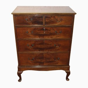 Mahogany Chest of Drawers on Stand, 1930s