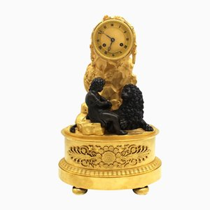 19th Century Empire Gilt Bronze Pendulum Clock