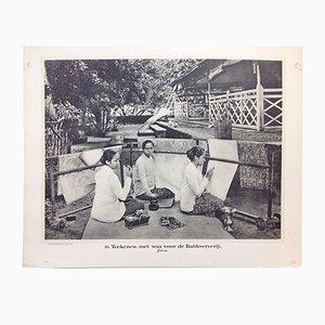 Photographie Noir et Blanc Antique Indes Orientales par Jean Demmeni pour Kleynenberg & Co., Pays-Bas, 1913