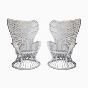 Italienische Sessel im Stile von Gio Ponti & Lio Carminati, 1950er, 2er Set