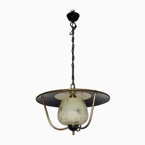 Französische Deckenlampe von Lunel, 1950er