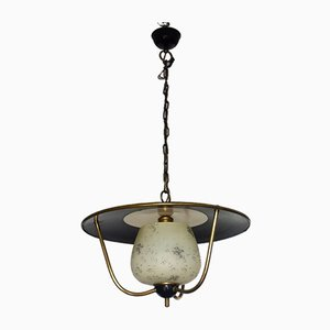 French Ceiling Lamp from Lunel, 1950s