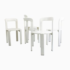 Model 33 Dining Chairs by Bruno Rey for Dietiker, 1970s, Set of 5