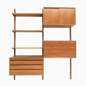Mid-Century Danish Teak Wall Unit by Cado