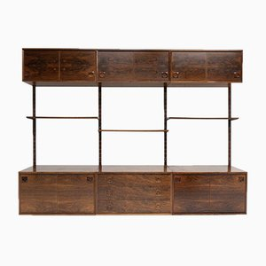 Mid-Century Danish Rosewood Wall Unit by Albert Hansen