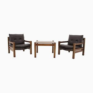 Office Room Set from Ton/Thonet, Czechoslovakia, 1980s, Set of 3
