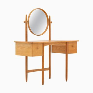 Swedish Oak Dressing Table by Sven Engström & Gunnar Myrstrand for Bodafors, 1960s
