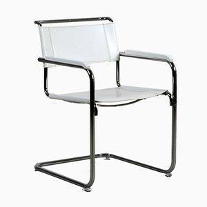 Chaise S34 Moderne en Cuir Blanc par Mart Stam pour Thonet, 1990s